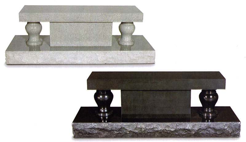 Marble and Granite urns available, along with 5-piece Estate benches